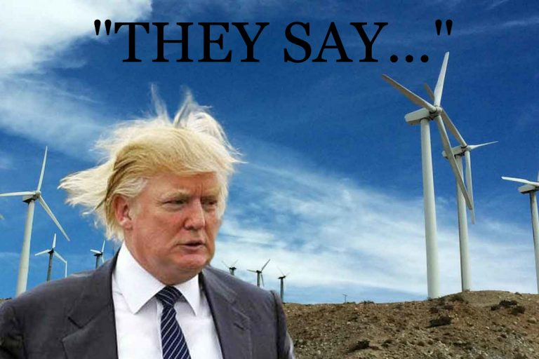 "Did Trump CLAIM, ""Wind Turbines cause cancer?"""