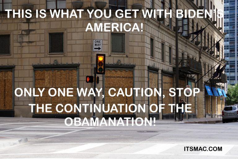 BIDEN IS WRONG!  THIS ISN'T TRUMP'S AMERICA, IT'S OBAMA'S AND BIDEN'S!