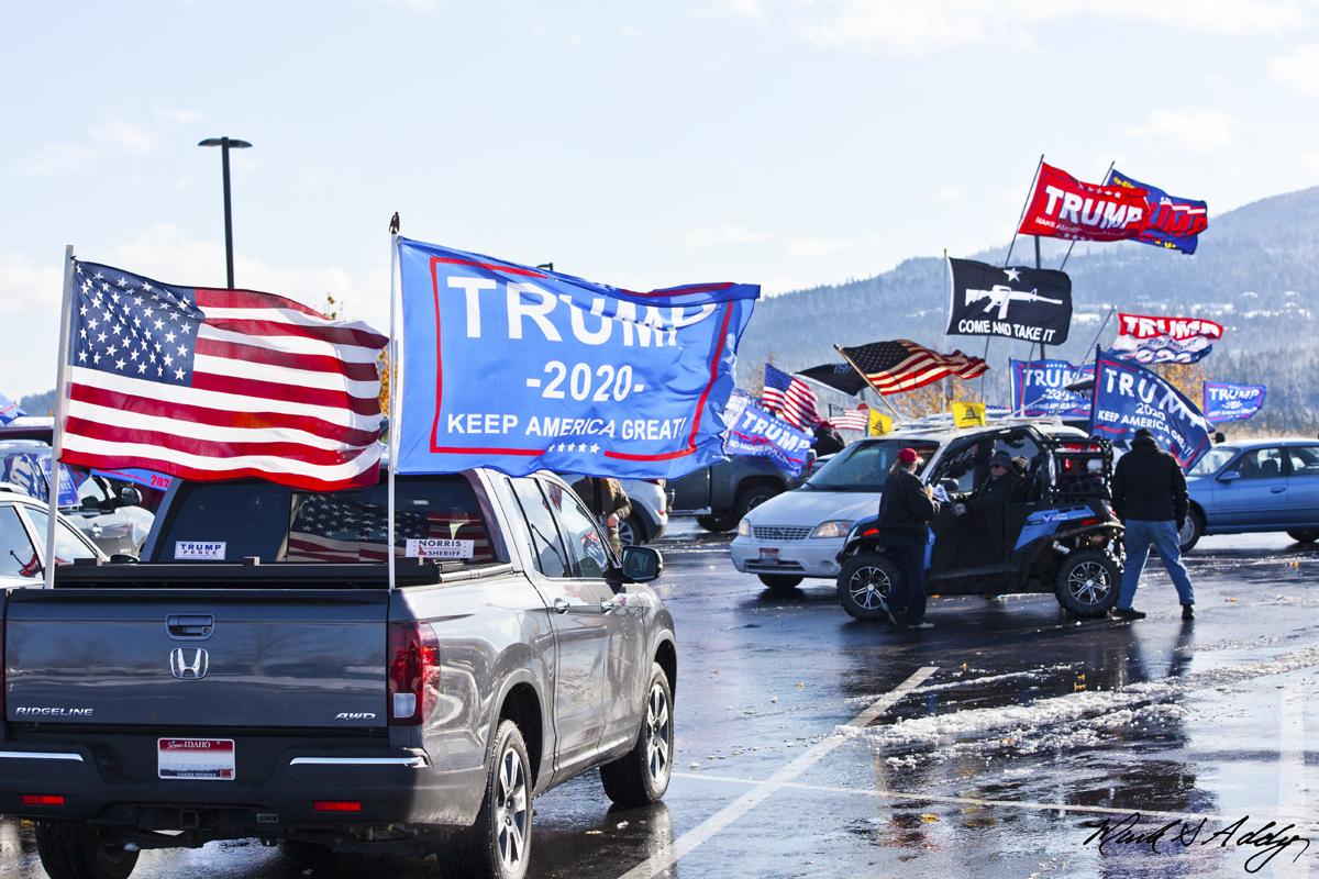 Coeur d'Alene Trump Car rally