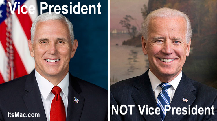 STOP CALLING JOE BIDEN, VICE PRESIDENT!  HE IS NOT!