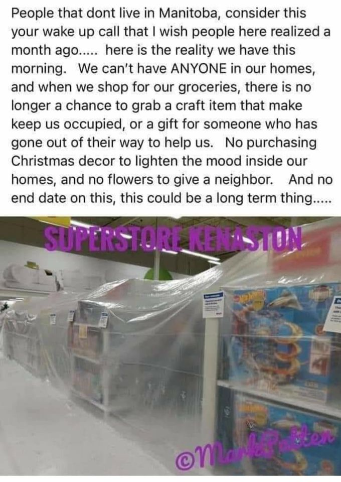 Canadian Superstore nonessential no buy