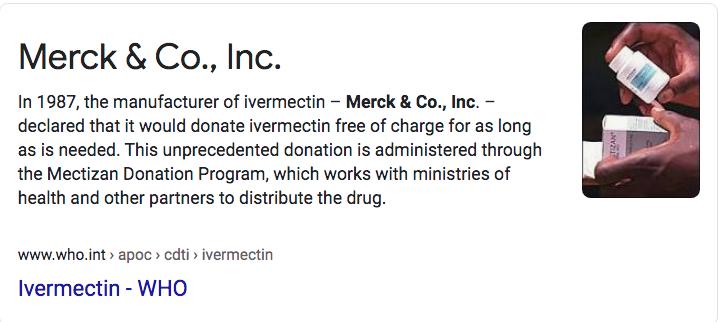 Merck markets antiparasitic drug