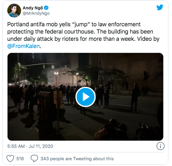 ANTIFA RIOTERS ATTACK FEDERAL COURTHOUSE