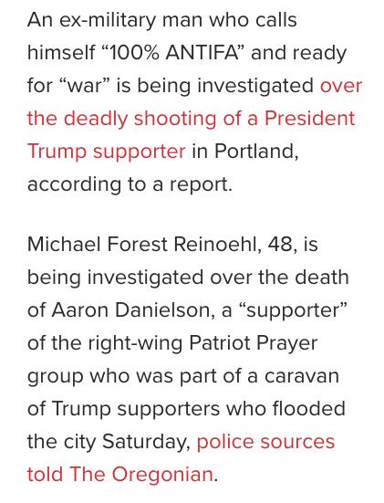 Antifa members murders Trump supporter