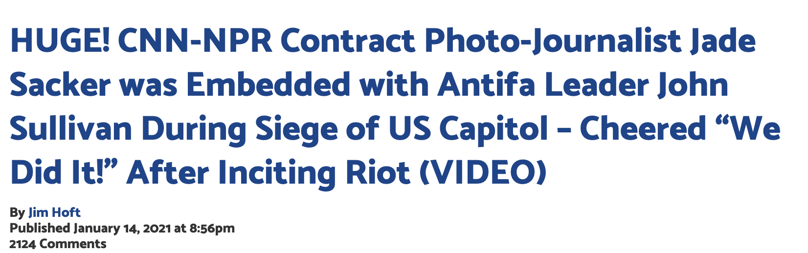Gateway Pundit ANTIFA at Capitol