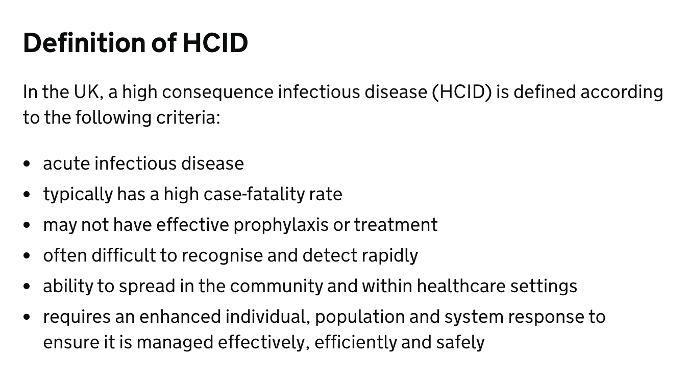 High Consequence Infectious diseases